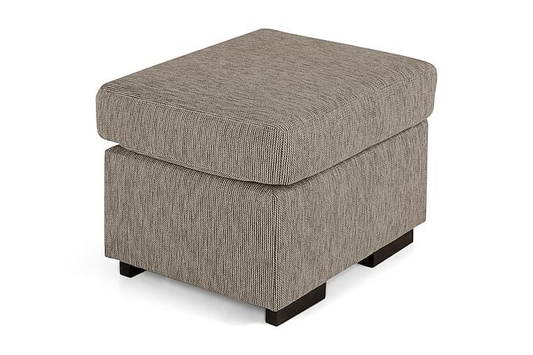 Virginia Fotskammel 50x60 - Beige - Innredning - Små møbler - Puff & sittepuffer