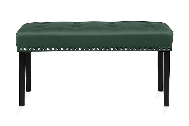 YORKTON Fotskammel 43 x 102 cm - Grønn - Innredning - Små møbler - Puff & sittepuffer