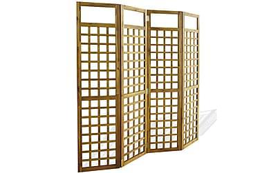 4-panels romdeler/espalier akasie heltre 160x170 cm
