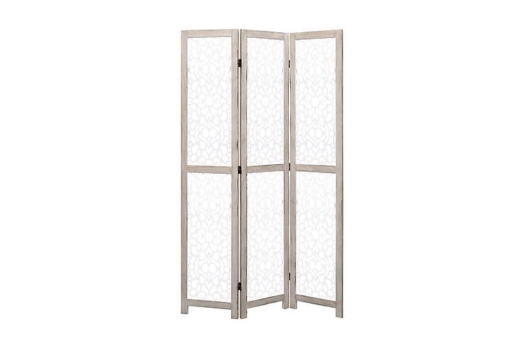 Romdeler 3 paneler hvit 105x165 cm heltre - Hvit - Innredning - Små møbler - Romdelere
