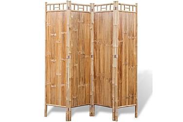 Romdeler 4-panel bambus