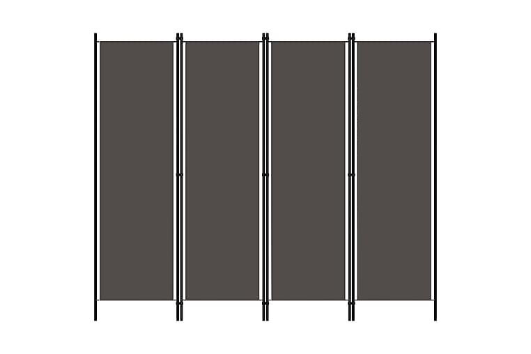 Romdeler 4 paneler antrasitt 200x180 cm - Innredning - Små møbler - Romdelere