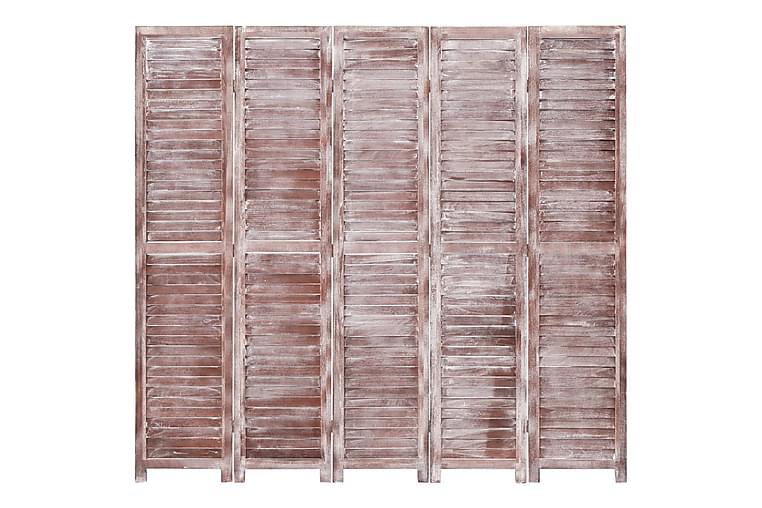 Romdeler 5 paneler brun 175x165 cm tre - Brun - Innredning - Små møbler - Romdelere