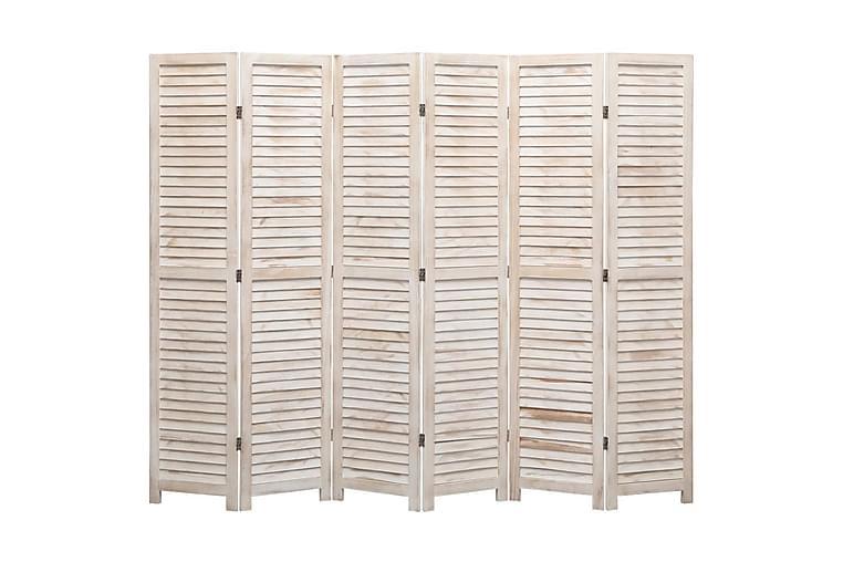 Romdeler 6 paneler 210x165 cm tre - Brun - Innredning - Små møbler - Romdelere