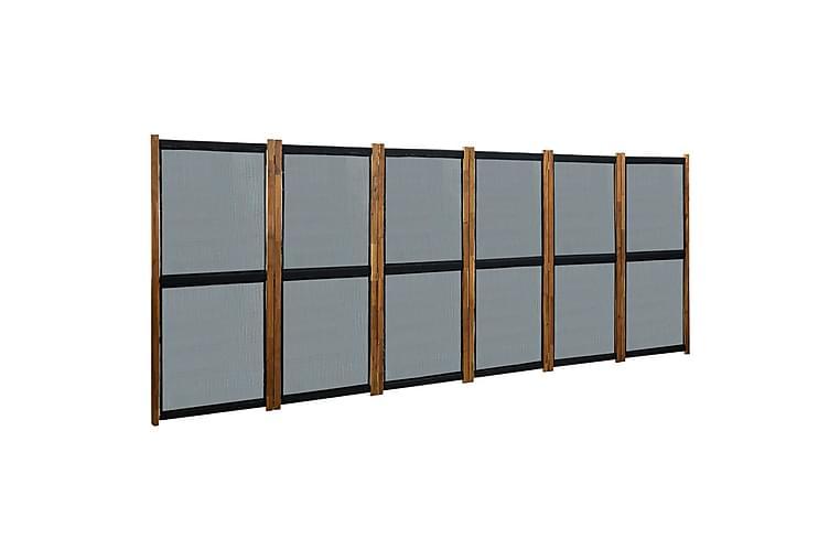 Romdeler med 6 paneler svart 420x170 cm - Svart - Innredning - Små møbler - Romdelere