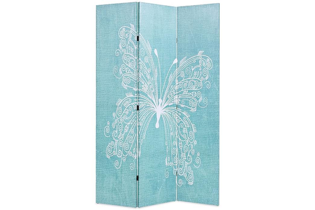 Sammenleggbar romdeler 120x170 cm sommerfugl blå - Innredning - Små møbler - Romdelere