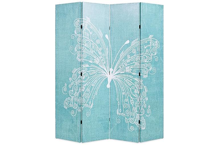 Sammenleggbar romdeler 160x170 cm sommerfugl blå - Innredning - Små møbler - Romdelere