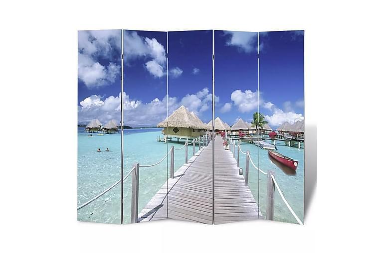 Sammenleggbar romdeler 200x170 cm strand - Innredning - Små møbler - Romdelere