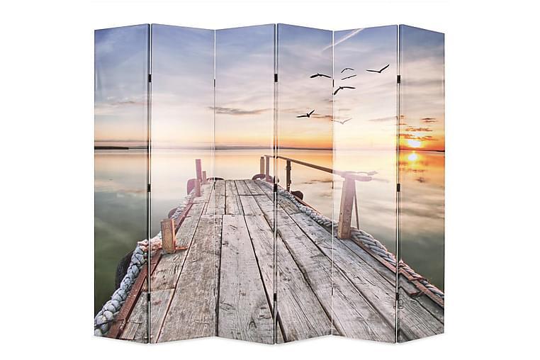 Sammenleggbar romdeler 228x170 cm innsjø - Innredning - Små møbler - Romdelere