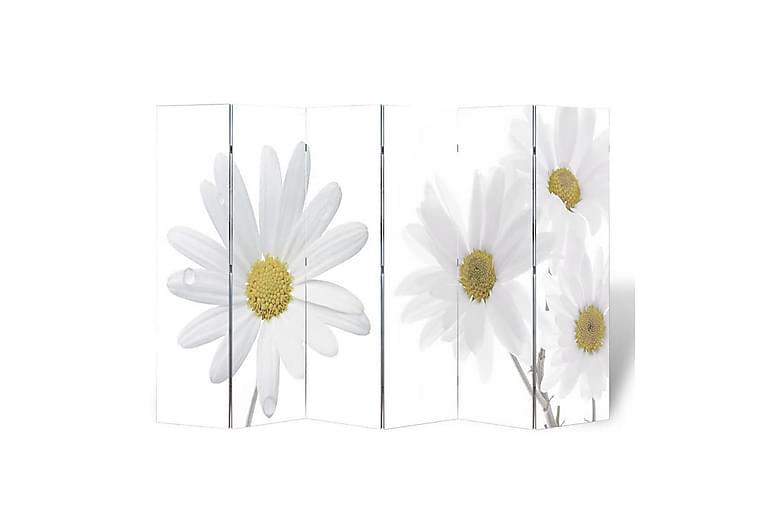 Sammenleggbar romdeler 240x170 cm blomst - Innredning - Små møbler - Romdelere