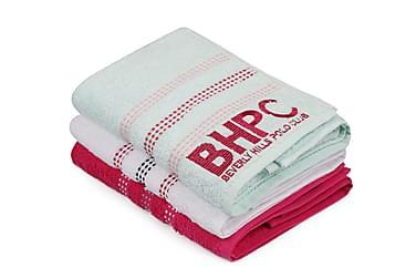 Beverly Hills Polo Club Håndkle 50x90 cm 3-pk