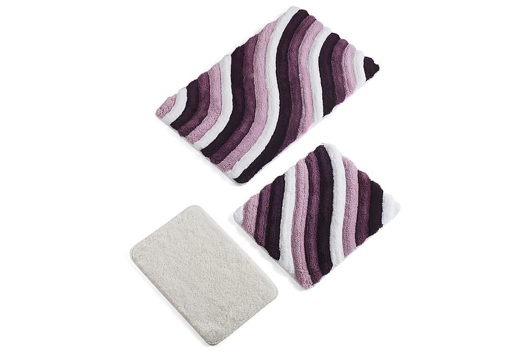 Chilai Home Badematte Sett med 3 - Multi - Innredning - Tekstiler - Baderomstekstiler