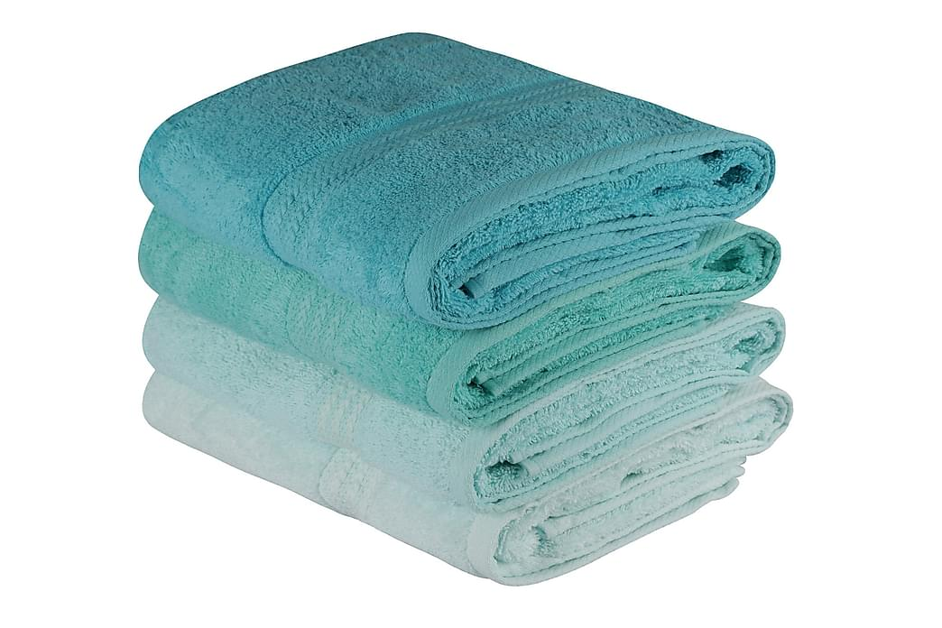 Hobby Badehåndkle 70x140 cm 2-pk - Lysegrønn/Grønn/Mint - Innredning - Tekstiler - Baderomstekstiler
