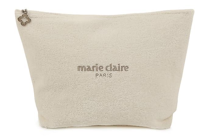 Marie Claire Sminkeveske 22x15 cm - Krem - Innredning - Tekstiler - Baderomstekstiler