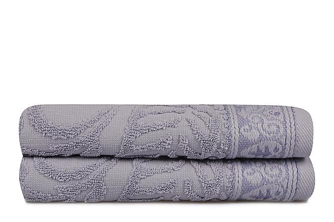 Soft Kiss Håndkle 50x90 cm 2-pk - Blå - Innredning - Tekstiler - Baderomstekstiler
