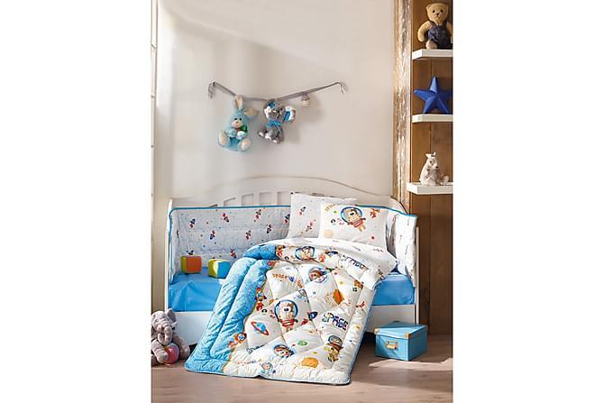 Cotton Box Sovepakke Baby 6 Deler Ranforce - Blå/Hvit/Multi - Innredning - Tekstiler - Barnetekstiler