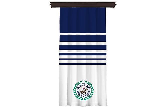 Beverly Hills Polo Club Gardinlengde 140 cm - Blå/Hvit - Innredning - Tekstiler - Gardiner