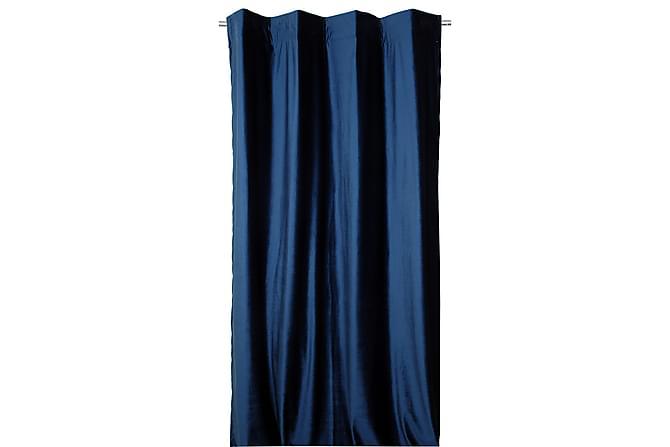 Fløyelsgardin med Multibånd 2-Pack - Mørkeblå - Innredning - Tekstiler - Gardiner