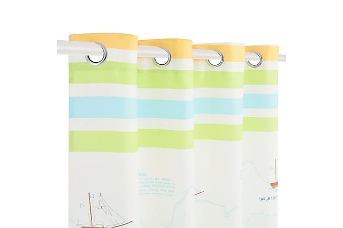 Lystette gardiner til barnerom 2 stk 140x240 cm reis verden - Innredning - Tekstiler - Gardiner