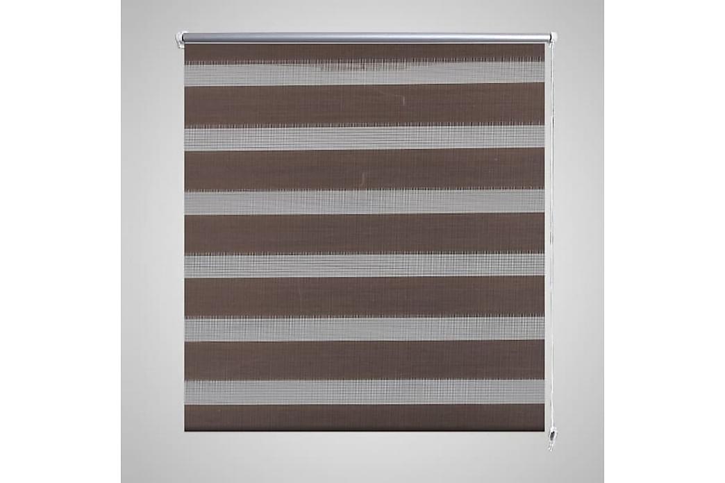 Rullegardiner sebramønstret 120 x 175 cm kaffe - Brun/Transparent - Innredning - Tekstiler - Gardiner