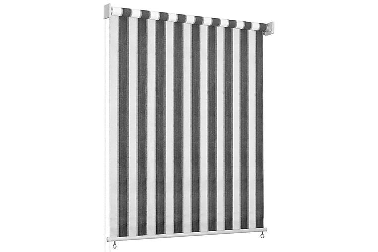 Utendørs rullegardin 80x230 cm antrasitt og hvit stripe - Antrasittgrå - Innredning - Tekstiler - Gardiner