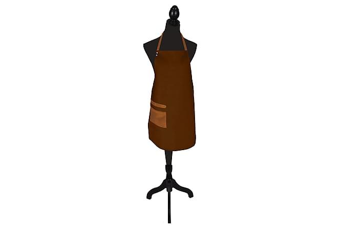 Forkle Skinnimitasjon 64x85 cm - Brun - Innredning - Tekstiler - Kjøkkentekstiler