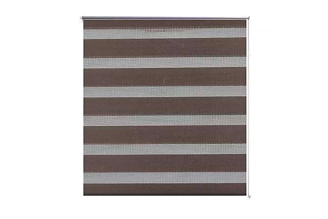 Donalda Rullegardin 90x150 cm Stripete - Brun/Transparent - Innredning - Tekstiler - Persienner