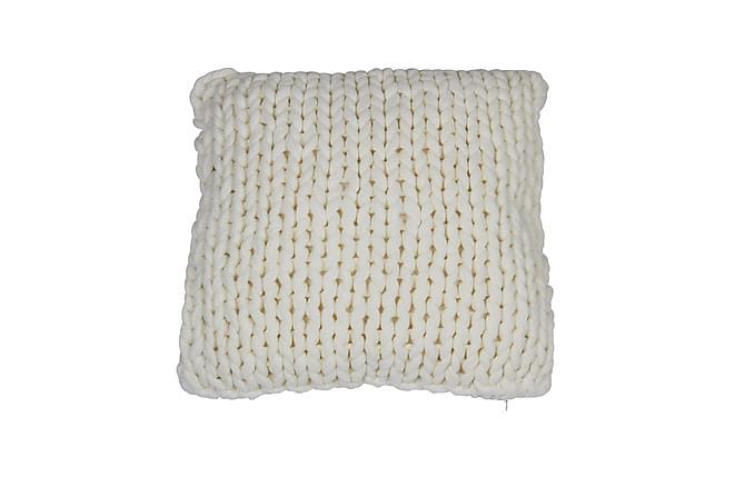 Fläta Putetrekk 45x45 cm - Offwhite - Innredning - Tekstiler - Putetrekk