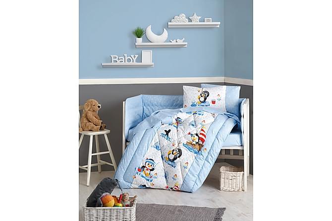 Cotton Box Sovepakke Baby 6 Deler Ranforce - Blå/Hvit/Svart/Rød - Innredning - Tekstiler - Barnetekstiler