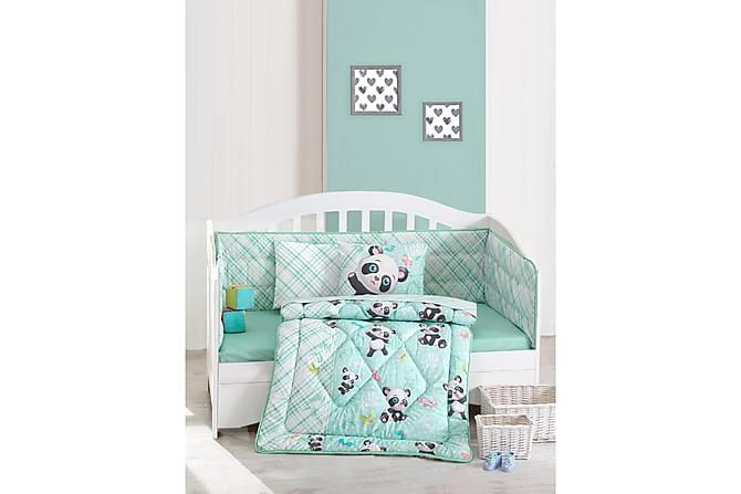 Cotton Box Sovepakke Baby 6 Deler Ranforce - Mint/Hvit/Svart/Rosa - Innredning - Tekstiler - Barnetekstiler
