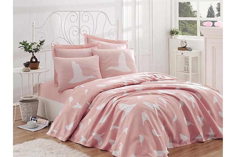 EnLora Home Sengeteppe 200x235 cm - Rosa - Innredning - Tekstiler - Sengetøy