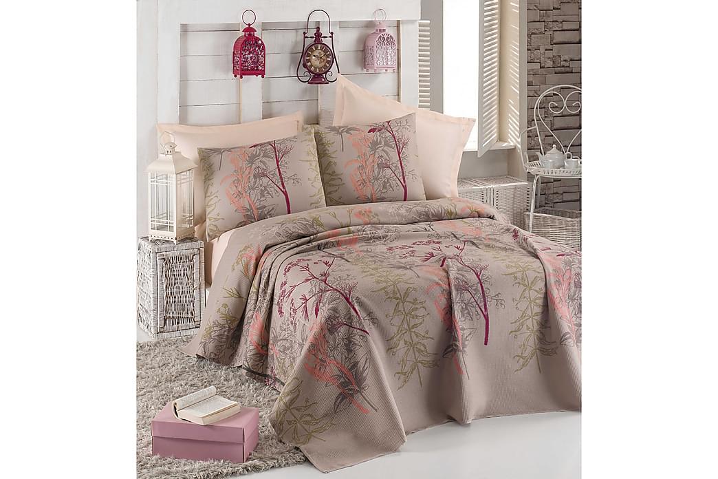 Eponj Home Sengeteppe Enkelt 160x235+Laken+Putetrekk - Beige/Rød/Rosa/Grønn - Innredning - Tekstiler - Sengetøy