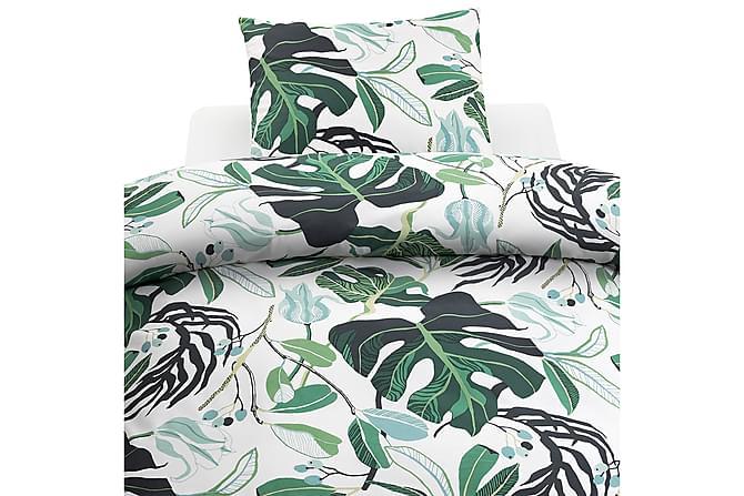 Funki Sengetøysett 2-delt Sett - Hvit/Grønn - Innredning - Tekstiler - Sengetøy
