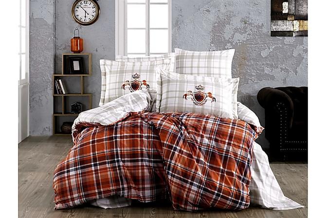 Hobby Sengetøy Enkelt 3-deler Poplin - Hvit/Oransje/Multi - Innredning - Tekstiler - Sengetøy