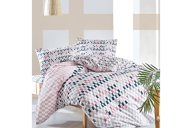 Marie Claire Sengetøy Dobbelt 4-deler Ranforce - Rosa/Hvit/Blå - Innredning - Tekstiler - Sengetøy