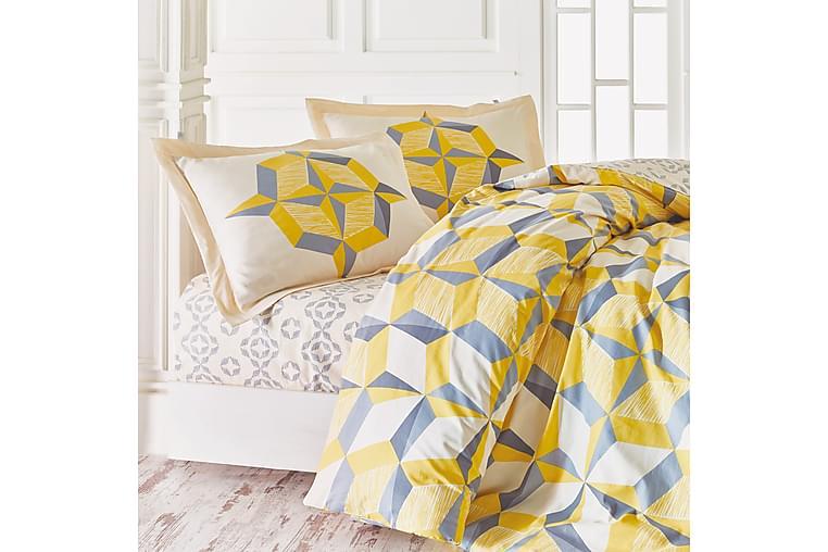 Marie Claire Sengetøy Kingsize 4-deler Ranforce - Sennep - Innredning - Tekstiler - Sengetøy