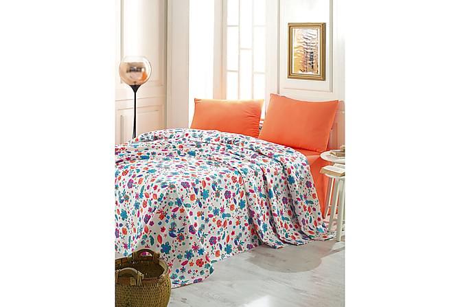 Marie Claire Sengeteppe Dobbelt 200x240 cm - Hvit/Blå/Oransje - Innredning - Tekstiler - Sengetøy