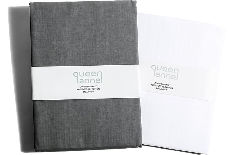 Queen Anne Laken - 260x240cm Grå - Innredning - Tekstiler - Sengetøy
