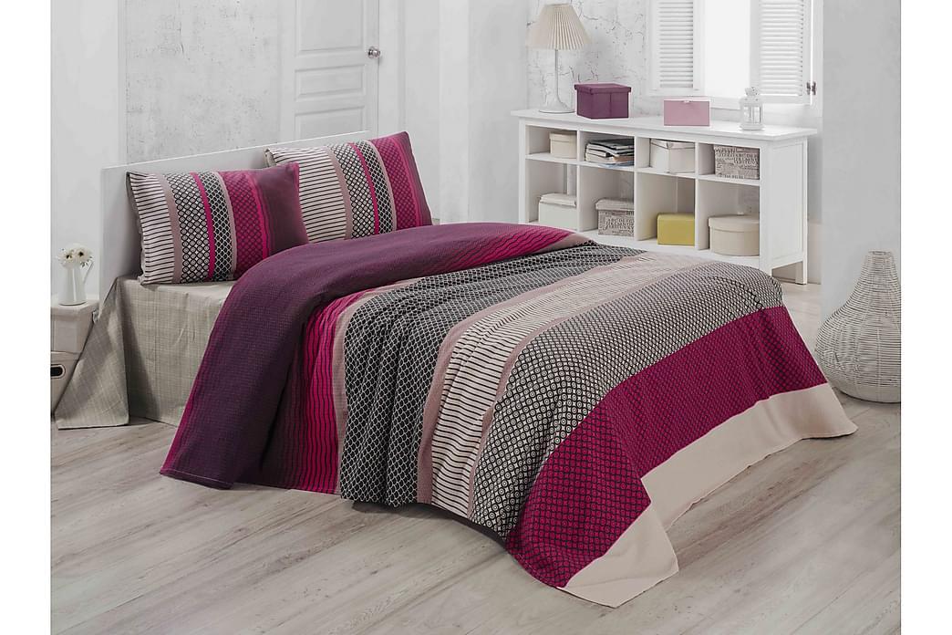 Victoria Sengeteppe Enkelt 160x230 cm - Rosa/Multi - Innredning - Tekstiler - Sengetøy
