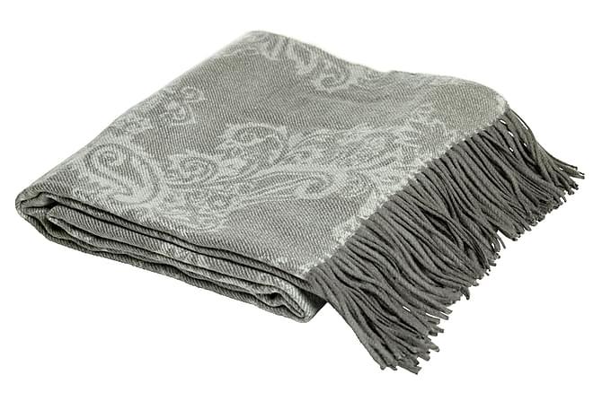 Chrysanthi Pledd 180x140 cm - Grå - Innredning - Tekstiler - Tepper & pledd
