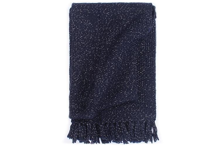 Pledd lurex 160x210 cm marineblå - Innredning - Tekstiler - Tepper & pledd