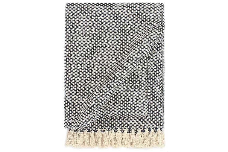 Teppe bomull 125x150 cm marineblå - Innredning - Tekstiler - Tepper & pledd
