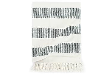 Teppe bomull stripemønster 125x150 cm mørkegrønn