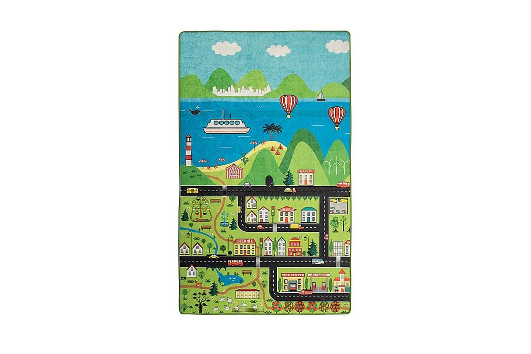 Barn Matte Happy City (100 x 160) - Innredning - Tepper & Matter - Barnetepper