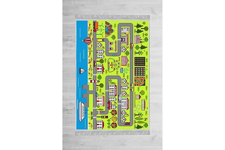 Hulne Barnematte 100x300 cm - Flerfarget - Innredning - Tepper & Matter - Barnetepper