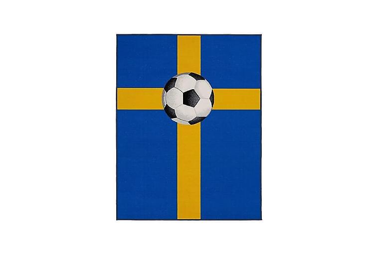 Olimpico Barnematte 133x170 cm Fotballsmatte Sverige - Blå - Innredning - Tepper & Matter - Barnetepper