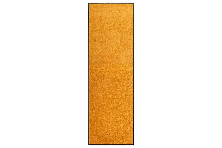 Dørmatte vaskbar oransje 60x180 cm - Oransj - Innredning - Tepper & Matter - Dørmatte og entrématte