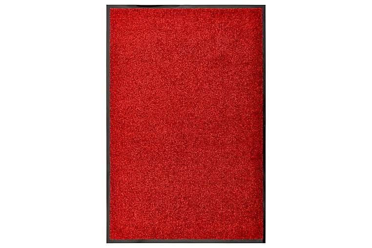 Dørmatte vaskbar rød 60x90 cm - Rød - Innredning - Tepper & Matter - Dørmatte og entrématte