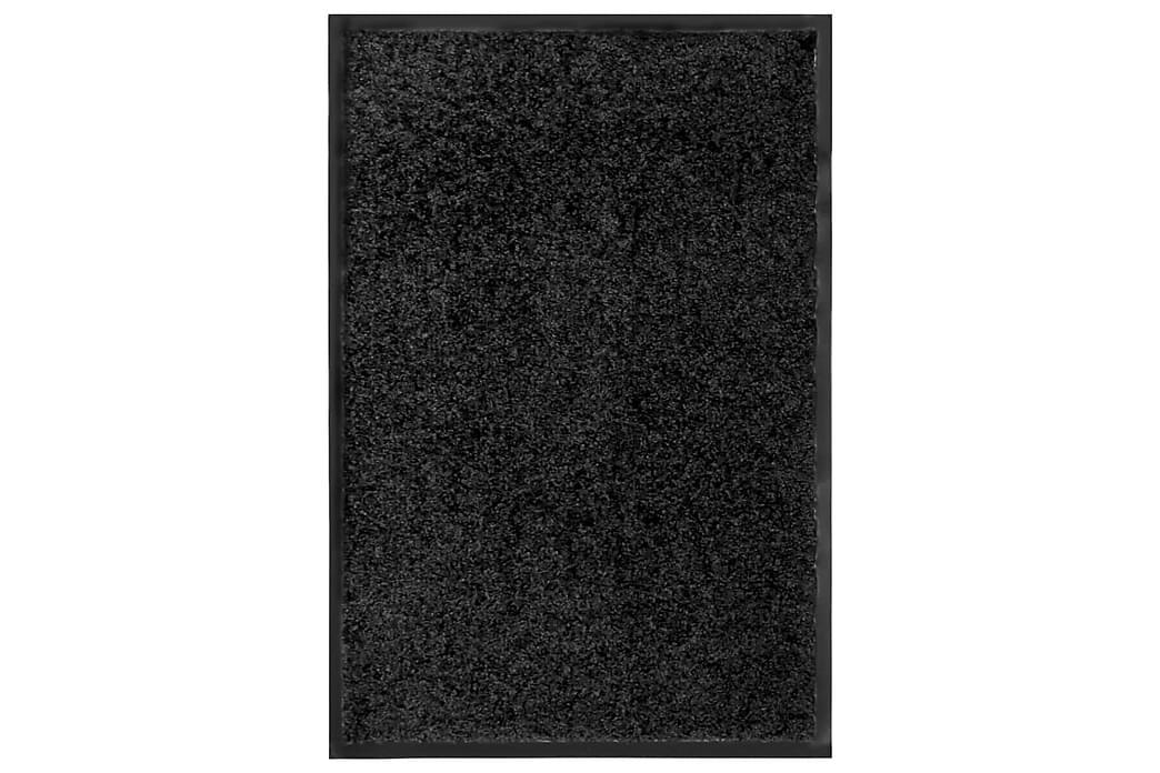 Dørmatte vaskbar svart 40x60 cm - Svart - Innredning - Tepper & Matter - Dørmatte og entrématte