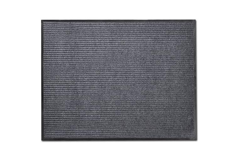 PVC Dørmatter 4 stk grå 90x60 cm - Grå - Innredning - Tepper & Matter - Dørmatte og entrématte